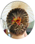 French Crown w/Feathered Bun